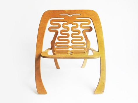 Amazing plywood children's chair by Greg Fleishman.